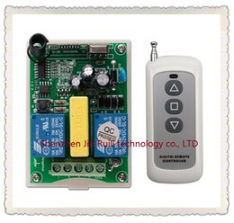 Wholesale Remote Control 433 Mhz - Wholesale- New AC 220V 2 CH 2CH RF Wireless Remote Control Motor Positive &negative Switch System 1X Transmitter +1 X Receiver,315 433 MHZ