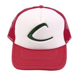 Wholesale Carnival Hats Wholesale - Wholesale- 1Pcs Men Ash Ketchum Fans Cartoon Hat C Mesh Adjustable Baseball Cap Costume Party Carnival Trainer Casual Outdoor sports Hat