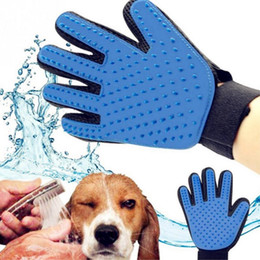 Wholesale Right Hand Glove - True Touch Five Finger Deshedding Glove Pet Grooming Dogs Bath Glove Making Pets Hair Cleanup For All Dogs & Cats Right&Left Hand 100PCS