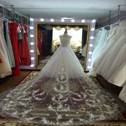 Wholesale Korean Wedding Veils - bridal veil trailing veil Korean petals Ruansha wedding veil