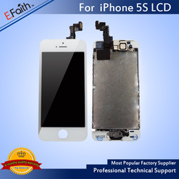 Wholesale Pcs Camera - 10 PCS A LOT For iPhone 5S Full Complete White LCD with Digitizer Bezel Frame+Home Button+Front Camera Full Assembly & Free Shiping