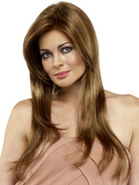Wholesale Charm Ponytail - Hot sale Charming Blonde Long Straight Costume Synthetic Full Wig Hair Pad Cabelo Sintetico Peluca Peruca Mega Hair