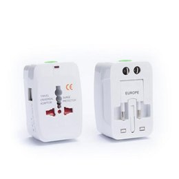 Wholesale Travel Adapter Surge Protector - All in One Universal International Wall Charger AC Power Adapter AU US UK EU Plug for plug Surge Protector Travel World Adapter