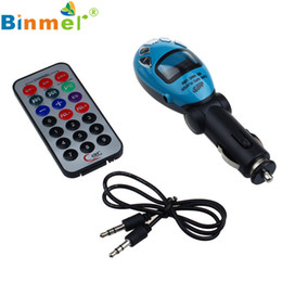 Wholesale mp3 player without radio - Wholesale- #12 LCD Wireless FM Trasmettitore Car Kit MP3 Player Support USB SD MMC Slot Without Bluetooth Car MP3 Audio Player N1213