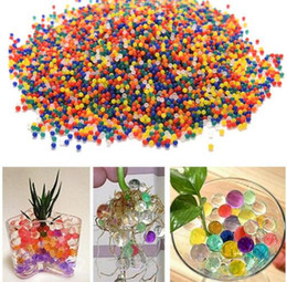 Wholesale Crystal Building Models - FBA Custom Logo Drop Shipping Built Brand hot 10000pcs packet colored orbeez soft crystal water paintball gun bullet grow water beads