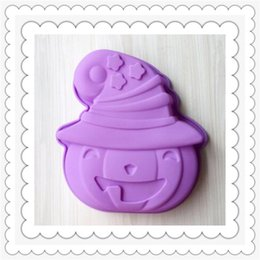 Wholesale Pumpkin Soap - Wholesale Halloween big pumpkin head silicone baking molds for handmade cake chocolate ice soap candy pudding mousse bread bakeware suppies