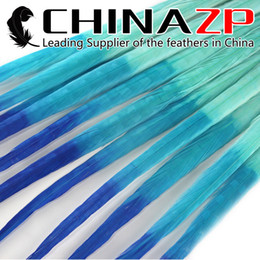 ringneck pheasant feathers Canada - Gold Supplier CHINAZP Crafts Factory 100pcs lot 50~55cm(20~22inch) Long Good Quality Dyed Tricolor Ringneck Pheasant Tail Feathers
