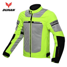 Wholesale Motorcycles Jackets Duhan - Genuine DUHAN Men Windproof Summer Jackets Breathable Male Motorcycle Racing Jacket Motocross Clothing With Waterproof inner