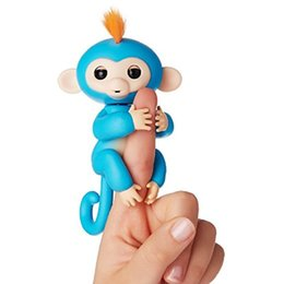 Wholesale Baby Toys Sound - Interactive Baby Monkeys 6 Color With Bonus Stand Sophie Bella Mia Zoe Finn Baby Monkeys Novelty Toy
