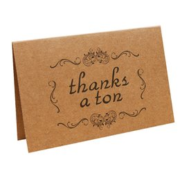 Wholesale Vintage Birthday Greeting Cards - Vintage Kraft Thank You Cards for Thanksgiving Day Birthday Christmas Card Writing Paper Stationery Wedding Party DIY Greeting Cards