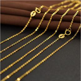 Wholesale Gold Necklace Pendants Bulk - Wholesale Price Chain Bulk 20pcs lot 18k Gold Plated Chain Necklace 45mm Rollo Chain for Pendant Wholesale