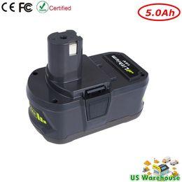 Wholesale Ryobi Lithium 18v - New 18V 5.0Ah Lithium Battery for Ryobi 18-Volt ONE+ Cordless Tool Battery P100 P101 P102 P105 P107 P108 P200 P2000 P2002 P201 P203 P204