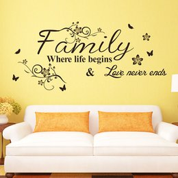 Wholesale Wall Stickers For Bedrooms Quotes - Wall Stickers Words Quotes Creative Style Wall Sayings Decorative Bedroom Wall Stickers Vinyl Removable Home Decoration