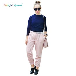 Wholesale Girls Short Sleeve Sweater - Wholesale-CA women's Pull Crop Top Sweater Short Knitted Navel Ultra Long Sleeve Sweater Girl Solid Color Sweaters CA48A