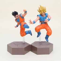 Wholesale Dragon Ball Figures Set - 2pcs set Dragon Ball Z Action Figures Son Goku Super Saiyan Gohan 17cm DXF Anime Dragonball Kai Figures Model Toys