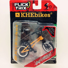 Wholesale Diecast Bicycles - Wholesale-Newest Flick Trix Finger bike orange Bmx Diecast Nickel Alloy Stents Professional Finger Bicycle Novelty Mini Toys