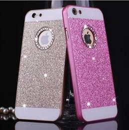 Wholesale I Phone Case Rhinestones - luxury Rhinestone case for apple iphone 5s glitter pink PC cover mobile phone accessories by noble quality original i5 5 se i
