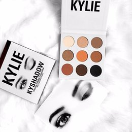 Wholesale Cheap Matte Eyeshadow Palettes - Hot Sale Kylie Jenner Bronze Palette Eyeshadow 9 Colors Kylie Cosmetics Matte Modified KYSHADOW Eyeshadow Cheap Price