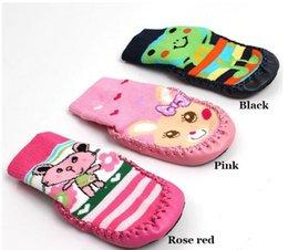 Wholesale Thick Soled Socks - Children's Infant Cartoon Socks Baby Gift Kid's Indoor Floor Socks Leather Sole Non-Slip Thick Towel Socks