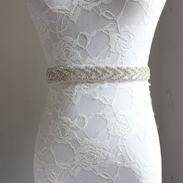 Wholesale Diamond Bridal Belts - Handmade Trendy Magnificent Crystal Bridal Luxury Female Floral Dress Women Belts Diamond Waistband Girdle Headband for Wedding