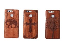 Wholesale Chinese Rosewood - Unique Handmade Genuine Natural Wood Wooden Rosewood Hard Case Cover for Huawei P9 P9 lite