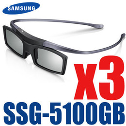 Wholesale Es Series - Wholesale- 3pcs lot Shipping 100% New Genuine Original 3D Bluetooth Active Shutter Glasses for Samsung SSG-5100GB With D E ES F H HU Series