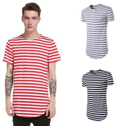 Wholesale Fashion Clothing Summer Youth - 017 New Summer Striped Shirt Men Casual Brand Clothing High Quality Streetwear Youth Male Tops Short Sleeve T Shirt XXL ZL3432