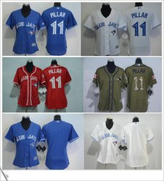 Wholesale Cheap Jay S - Quality Toronto Blue Jays #11 Kevin Pillar Women's baseball cheap jerseys shirts Stitched Logo Embroidery Cool Base free shipping for sale