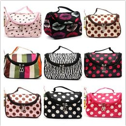 Wholesale folding tool case - Professional Cosmetic Case Bag Large Capacity Portable Women Makeup bag cosmetic bags storage travel bags IA541