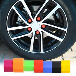 Wholesale Brand New Car Tyres - Wholesale- 20pcs Brand New Universal Silicone Hexagon Car Wheel Lug Nut 21mm Bolt Cover Protective Tyre Valve Screw Cap Antirust # Tracking
