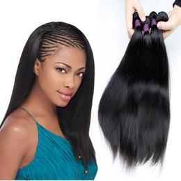 2019 cheveux remy brésilien Cheveux vierges malaisiens tisse 4 faisceaux non transformés brésiliens péruviens brésiliens droits de cheveux raides Extensions Naturel Noir promotion cheveux remy brésilien