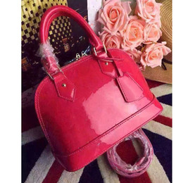 Wholesale Flower Embossed - ALMA BB shell bag women Genuine Leather handbags flower Embossed shoulder bags with lock designer handbags high quality crossbody bag