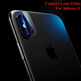 Wholesale slim cameras - For iphone X Rear Camera Lens Flexible Tempered Glass Screen protector For iphone 8 8Plus 7 7Plus Ultra Slim Soft Fiber Protective Film
