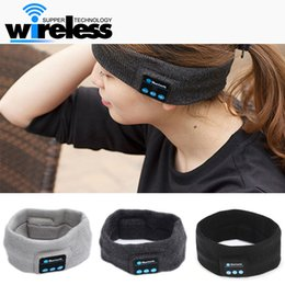 Wholesale Iphone Earplugs - Hbluetooth Earphone For Iphone 7 Handband Edge Yoga Hat Sport Cap Headset Wireless Hand Band Earplug Music Player Handphone Handfree Beanie