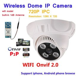 Wholesale High Resolution Dome - New arrival High resolution! 1.0Megapixel Wifi Camera support 720P IR Night vision Indoor Dome P2P Motion detect Network Wireless IP Camera