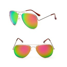 Wholesale Men Frog Sunglasses - 2017 Unisex Fashion Designer Sunglasses Classic Eyeglasses Retro Aviator Mirror Reflective Lens Sunglasses Vintage Outdoor Frog Sunglasses