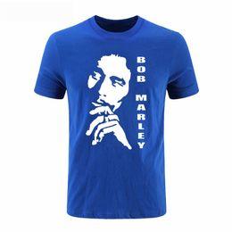 Wholesale Bob Marley T Shirts - Reggae Bob Marley Men T Shirts Casual Cotton Bob Marley Head Printed Summer T-shirts Short Sleeve Cotton Man Round Neck Tops Tee DIY-0249D