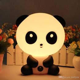 Wholesale Night Pandas - 2017 Brand New Baby Bedroom Lamps Night Light Cartoon Pets Rabbit Panda PVC Plastic Sleep Led Kid Lamp Bulb Nightlight for Children