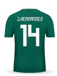 Wholesale Mexico Soccer World Cup Jersey - Discount Cheap 17-18 Mexico world cup Thai Quality Soccer Jerseys shirts,14 J.Hernandez Chicharito 19 O.Peralta 16 Aquino 11 Carlos V wear
