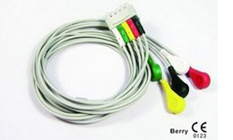 Wholesale Monitor Cable Ecg - GE ecg cable 5 lead patient monitor ecg trunk cable ECG equipment,ECG conductive electrode cable