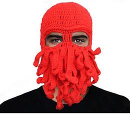 Canada Drôle Unisexe Octopus Laine Tricoté Ski Ski Masques Masques Soirée D'événement Halloween Tricoté Hiver Chapeau Chaud Chapeau Calmar Bonnet Beanie Cool Gifts Offre