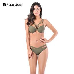Wholesale Underwire Swimwear Women -  Faerdasi 2017 Multi-rope Sexy Low Waist Solid Color with Underwire Swimwear Women Brazilian Bathing Suit Brazilian Biquini