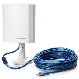 Wholesale Usb Wifi Antenna High Range - Wholesale- 150Mbps USB Long Range Outdoor USB Wifi Wireless Adapter Up to 3000M Hot Spots with High Gain Antenna 5m Cable