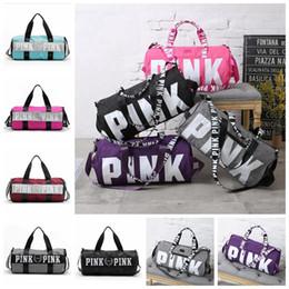 Wholesale Tote Bag Wholesale Polyester - VS Pink Handbags Women Pink Letter Travel Bags VS Beach Bag Duffle Bags Large Capacity Waterproof Yoga Sports Shoulder Bags OOA1680