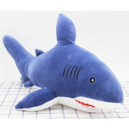 Wholesale Wholesale Sharks Toys - shark plush toys Valentine's Day gift home decoration dolls animal modeling doll birthday gift wedding free shipping