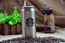 2019 regalos en forma de camara Nueva bebida Starbuck 500ml puede starbucks tazas de acero inoxidable con la paja