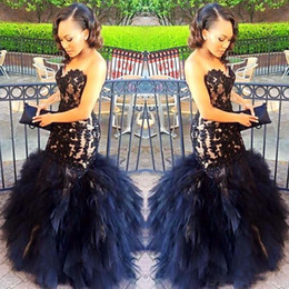 Wholesale Petite Fashion Long Skirt - 2017 Sexy Long Evening Dresses Mermaid Sweetheart Beaded Appliques Black Girl Prom 2K17 Prom Party Gowns Ruffles Skirt Plus Size Dress