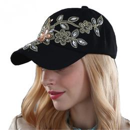 Wholesale Denim Sports Cap - Women Fashion Denim Baseball Cap Jean Crystal Canvas Sports Hat Hip hop Snapback Caps Adjustable Casquette Sunhats