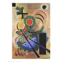Pinturas a óleo originais modernas on-line-Arte moderna abstrata Standhaftes Grun Original-Wassily Kandinsky pinturas a óleo Canvas pintados à mão