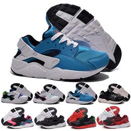 Wholesale Original Quality Shoes - 2017 kids Air Huarache Running Shoes breathable 100% Original Quality Air Huaraches sports Triple Shoes eur 28-35 free shipping